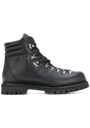 Gucci Web bee hiking boots - Black