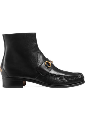 Gucci Horsebit leather boot - Black