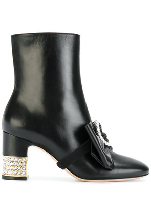 Gucci stone ankle boots - Black