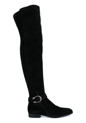 Gucci Black Suede thigh boots