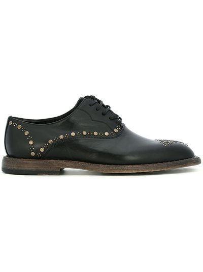 Brogue Shoes On Sale, Black, Suede leather, 2017, 7.5 8 9 Dolce & Gabbana