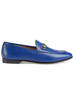 Gucci Gucci Jordaan leather loafer - Blue