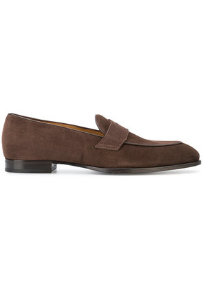 Barbanera pointed toe loafers - Brown
