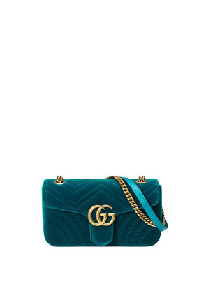 GG Marmont 2.0 Small Quilted Velvet Crossbody Bag