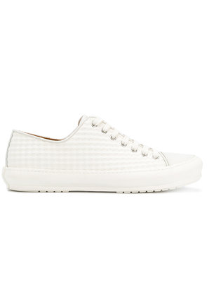 Both textured low-top sneakers - White