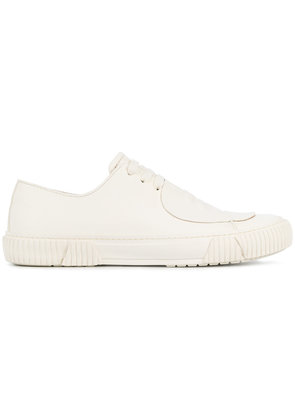 Both patch front sneakers - White
