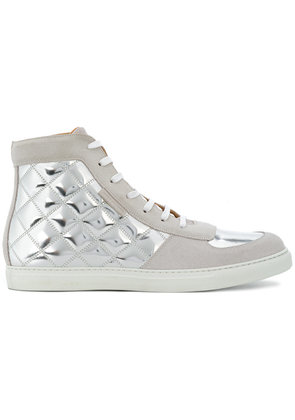 Marc Jacobs quilted high-top sneakers - Metallic