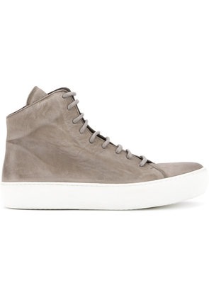 The Last Conspiracy lace-up hi-top sneakers - Grey