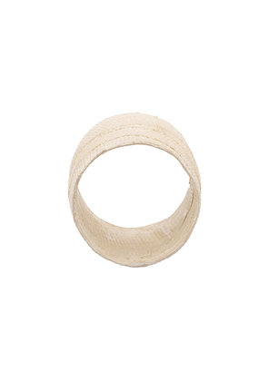 Detaj bandage ring - White