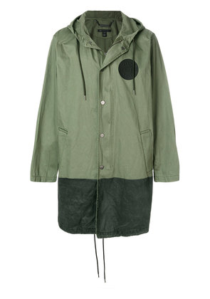 Marc Jacobs contrast panel parka - Green