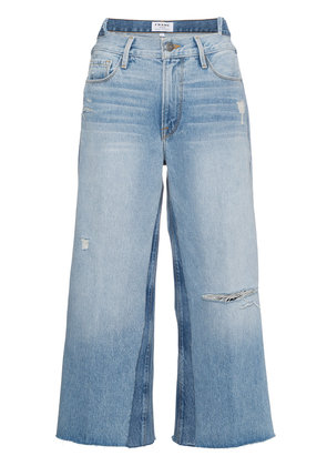 Frame Denim Le Reconstructed cropped patchwork jeans - Blue
