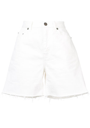 Saint Laurent baggy frayed shorts - White