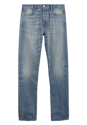 Burberry Relaxed Fit Washed Japanese Selvedge Denim Jeans - Blue