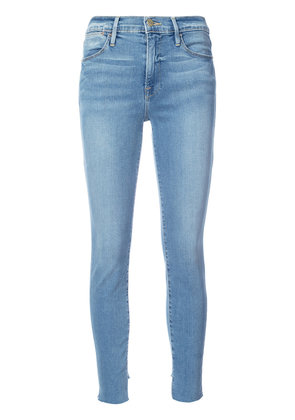 Frame Denim super skinny cropped jeans - Blue