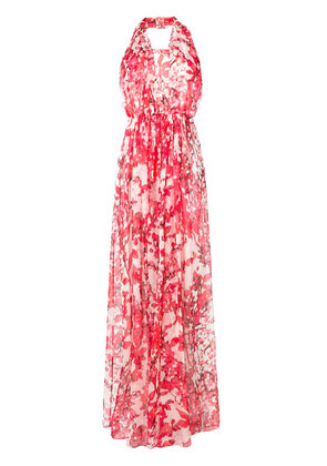 Max Mara floral print georgette gown - Red