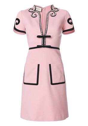 Gucci Viscose jersey dress with crystals - Pink & Purple