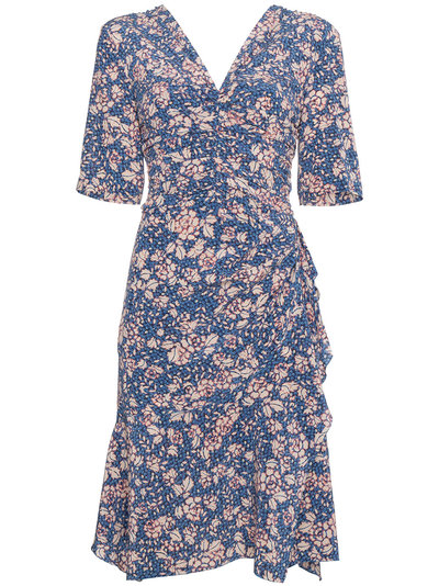 Romi floral-print dress - Blue Isabel Marant Buy For Sale Limit Discount Footlocker Finishline Cheap Price Free Shipping Countdown Package Cheap Price Fake UPX2yIp