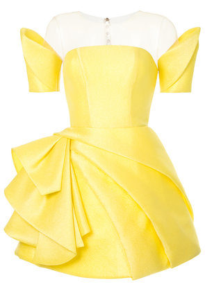 Isabel Sanchis geometric fitted dress - Yellow & Orange