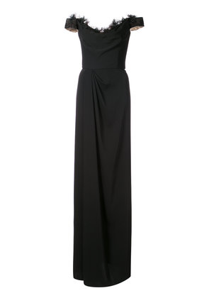 Marchesa Notte off-shoulder maxi dress - Black