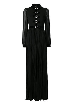 Gucci Bow embellished evening gown - Black