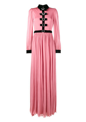Gucci Velvet bow evening dress - Pink & Purple