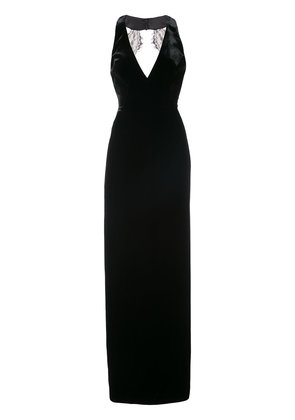 Monique Lhuillier velvet column gown - Black
