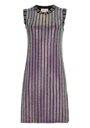 Gucci Crystal embroidered ribbed knit dress - Black