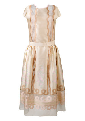 Fendi panel empire dress - Nude & Neutrals