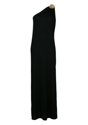 Elena Makri clam buckle one shoulder dress - Black