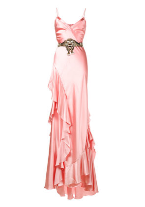 Gucci ruffle slip gown - Pink & Purple
