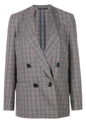 Paul Smith check double-breasted blazer - Grey