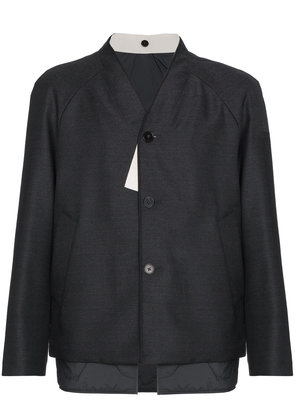 Jil Sander Wool collarless jacket - Grey