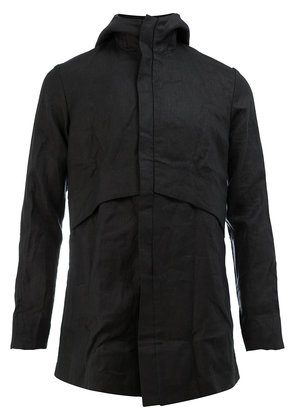 A New Cross creased hooded jacket - Black