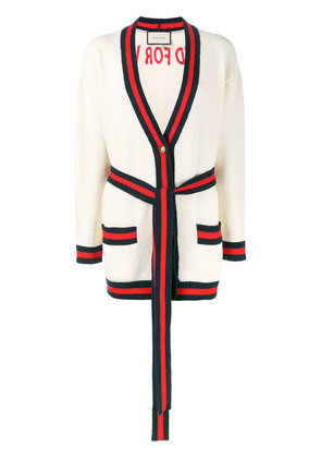 Gucci oversized embroidered cardigan - Nude & Neutrals