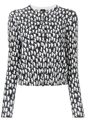 Paul Smith cat-print cardigan - Black