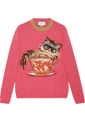 Gucci Ignasi Monreal wool knit sweater - Pink & Purple