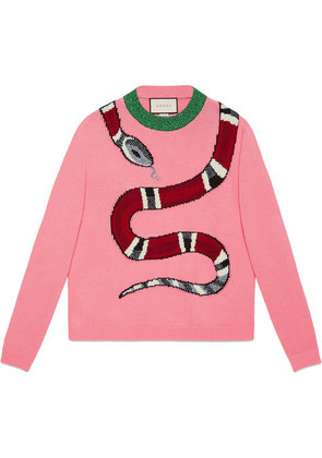 Gucci Kingsnake wool knit sweater - Pink & Purple