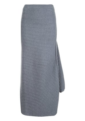 JW Anderson ribbed knit skirt - Grey