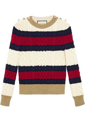 Gucci Striped knit top - Multicolour