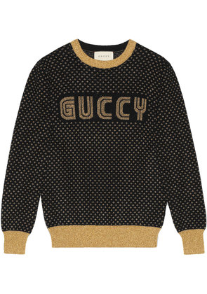 Gucci Guccy knit top - Black