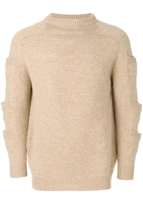 Christopher Kane stacked pocket knit - Nude & Neutrals
