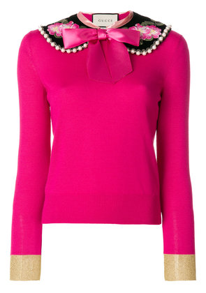 Gucci Peter pan collar cashmere sweater - Pink & Purple