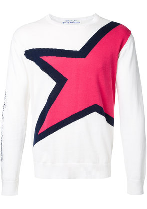 Education From Youngmachines star jumper - White