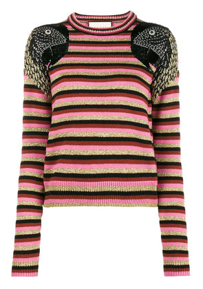 Gucci Parrot striped jumper - Multicolour