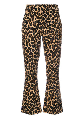 Frame Denim cheetah print flared trousers - Multicolour