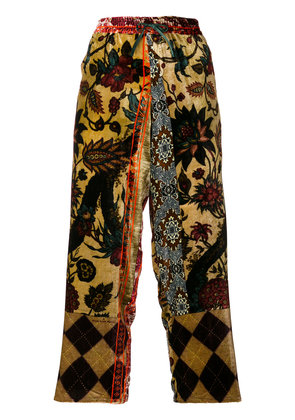 Pierre-Louis Mascia embroidered cropped trousers - Multicolour