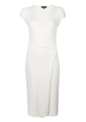 Cashmere In Love Camilla knitted dress - White
