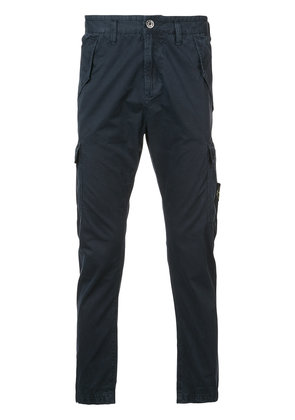 Stone Island cargo pocket chino trousers - Blue