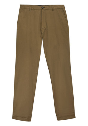 Burberry Cotton Twill Chinos - Green