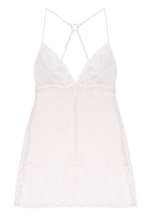 Fleur Of England sheer lace night gown - Nude & Neutrals